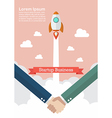 Handshake deal startup business vector image vector image