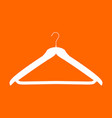 hanger white icon vector image