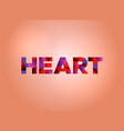 heart concept colorful word art vector image vector image