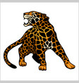 jaguar logo icon character vector image vector image