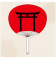 japanese fan japanese gate painting image vector image vector image
