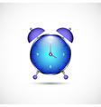 Metal clock icon in color vector image