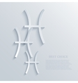 modern signs of the zodiac background vector image vector image