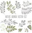 Nature Branch Set vector image
