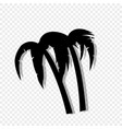 palm trees icon isolated on transparent background vector image vector image
