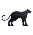 panther icon cartoon style vector image