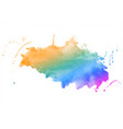 rainbow colors watercolor stain texture vector image