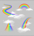 rainbow realistic set vector image