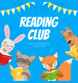 reading club kids educational community vector image