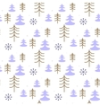 Seamless Christmas pattern with trees vector image vector image