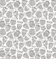 Seamless pattern of doodles beards and eyeglasses vector image vector image