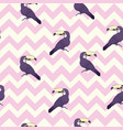 seamless pattern with hand drawn toucan on white vector image vector image