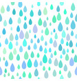 seamless rain pattern vector image vector image