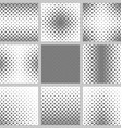 Set monochrome square pattern backgrounds vector image vector image