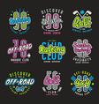 Set of sport emblems rafting diving golf color vector image