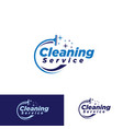 simple cleaning service logotype vector image vector image