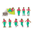 sketch set of how fat black vector image vector image