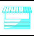 store with striped awning ico vector image vector image