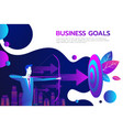 successful businessman hold arrow in hand vector image vector image