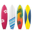 surfboard icons set 2 vector image