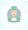 Surgeon medicine doctor icon vector image