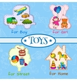 Toys icons composition vector image vector image