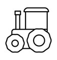 tractor agridulture farm transport design icon vector image