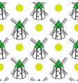 windmills and sun seamless pattern vector image