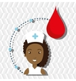 woman medical staff blood vector image