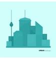 Flat design urban landscape color vector image