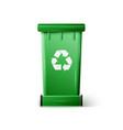 Green Recycle Bin vector image