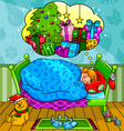 christmas dreams vector image