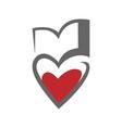 loving books symbol icon on white vector image