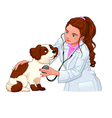 Veterinary with dog vector image
