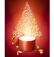 Abstract Christmas Tree from Gift Box vector image vector image