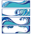 Abstract water backgrounds vector image vector image
