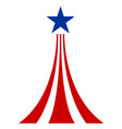 american symbol star and stripes vector image vector image