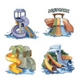 aquapark vector image vector image