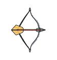arch bow arrow vector image vector image