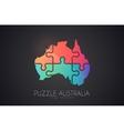 australia logo puzzle creative logo vector image