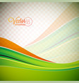 background with green waves vector image