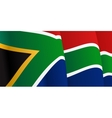 Background with waving South Africa Flag vector image vector image