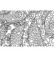 beautiful coloring book page with floral pattern vector image