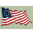 betsy ross artistic brush stroke waving flag vector image vector image