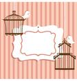 Bird cage frame vector image vector image