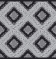 black and white plaid carpet seamless pattern vector image