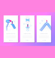 business situations - set of isometric vector image