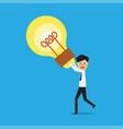 businessman creative idea vector image
