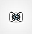 camera eye icon vector image vector image