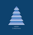 card with blue mosaic christmas tree vector image
